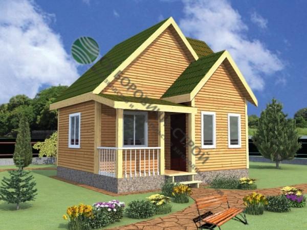 Дом из профилированного бруса. Проект Б - 4.