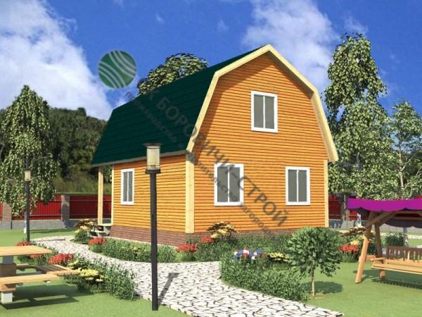 Дом из профилированного бруса. Проект Б - 10.