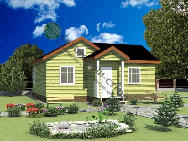Дом из профилированного бруса. Проект Б - 9.