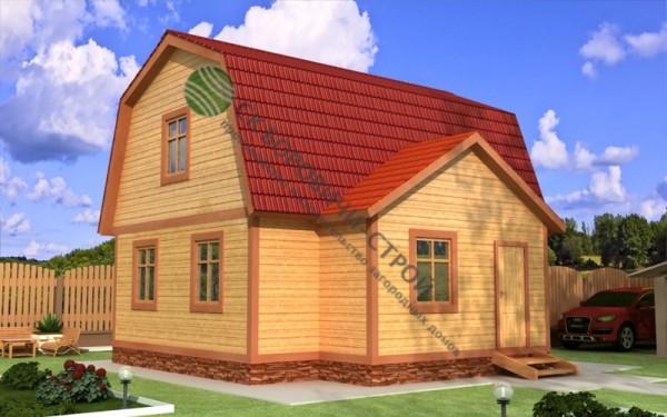 Дом из профилированного бруса. Проект Б - 16.