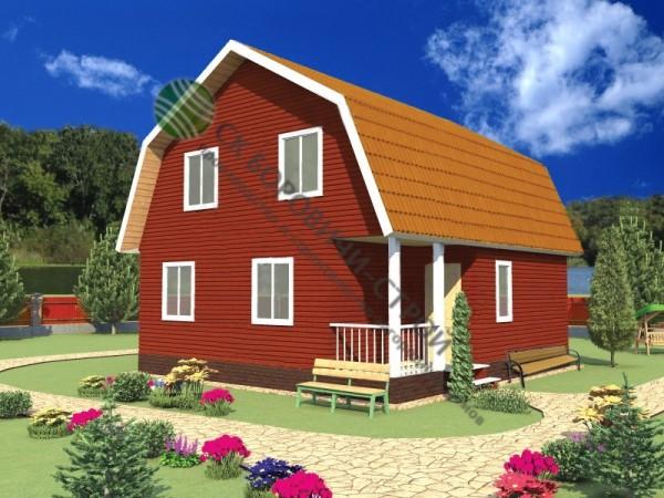 Дом из профилированного бруса. Проект Б - 12.