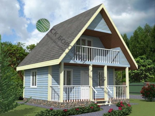 Дом из профилированного бруса. Проект Б - 2.